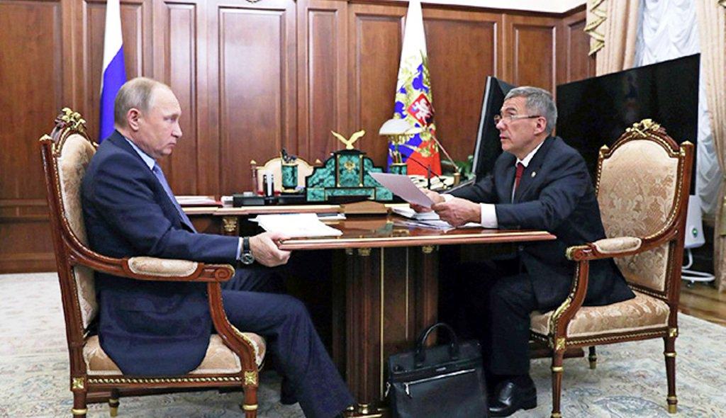 Встреча Путина с президентом Татарстана Миннихановым