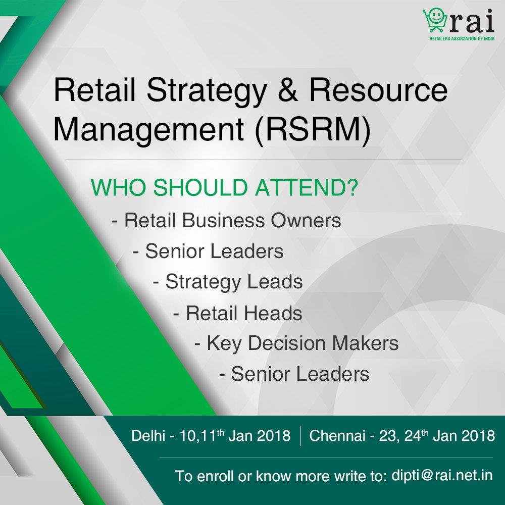 Retailers Association of India (RAI) on Twitter:
