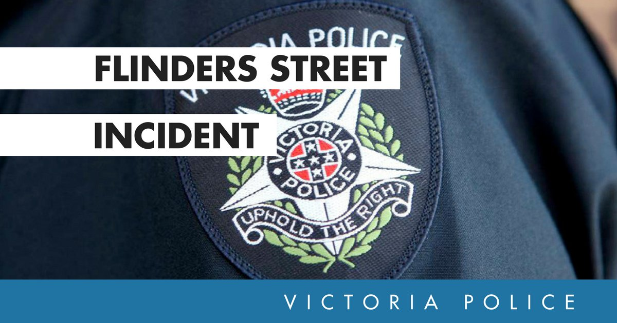 If members of the public have video or images which might assist police with their investigation into the Flinders Street incident they are encouraged to upload them here → https://t.co/oFfWkid509