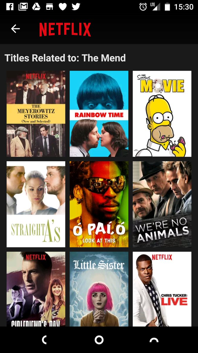 Filmbrain Andrew G On Twitter Meanwhile On German Netflix We Get These Suggestions Come To Think Of It The Mend Is A Thinly Veiled Remake Of The Simpsons Movie Https T Co Sndimxt0ln