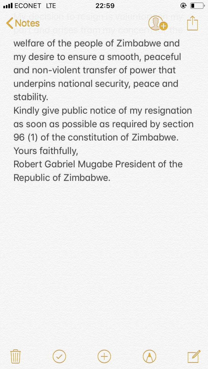 Povo zim on twitter zimbabwe happy mugabe resignation anniversary povo zim on twitter zimbabwe happy mugabe resignation anniversary president mugabes resignation letter 21 november 2017 mugabe zimbabwe expocarfo Image collections