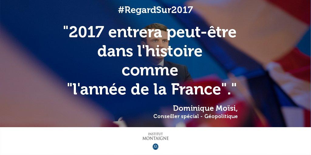 La France 'pays de l'année' selon The Economist : Dominique Moïsi l'avait prédit ! #RegardSur2017 Redécouvrez son analyse  👉 https://t.co/A2ex1xdYHc