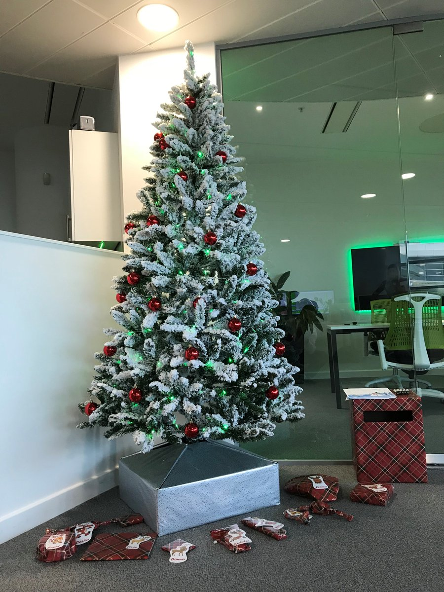 Wrapped IT Related Items Under Our Christmas Tree DiscoveryPark The Winners Will Be Announced This Afternoon After 3pm