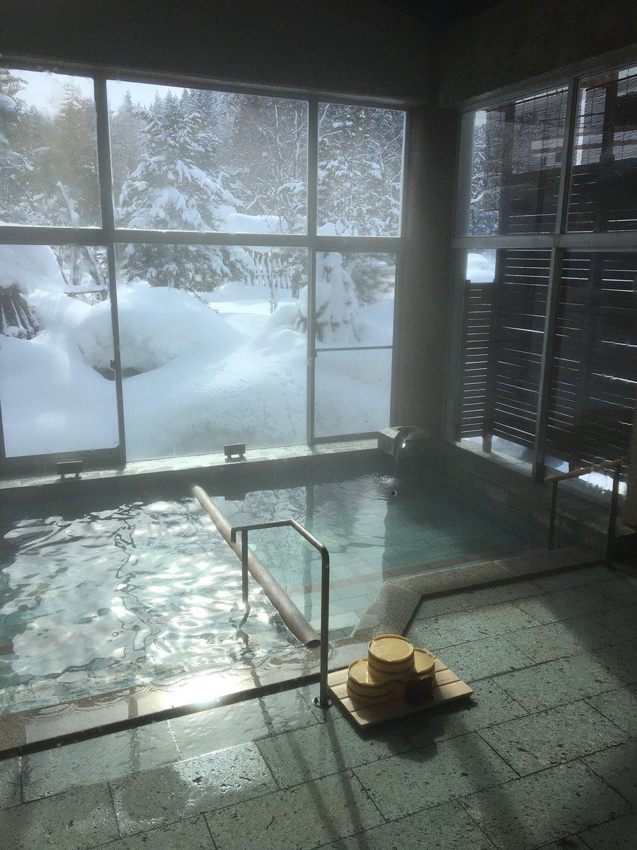 #雪見風呂 最高です!(≧∀≦)♡ #米沢八湯 いらしてねん♡#近いよ米沢 #小野川温泉