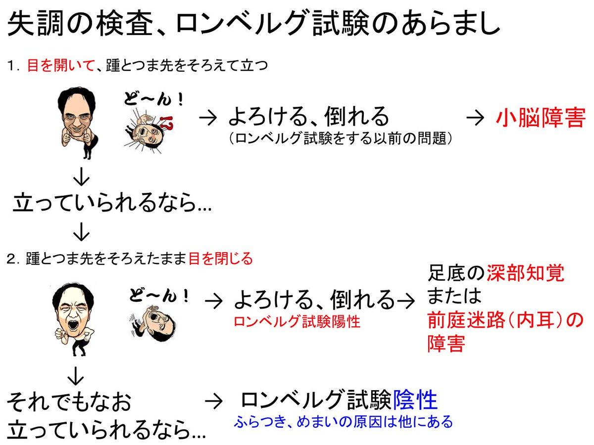 """OJ★ on Twitter: """"ロンベルグ試験… """""""