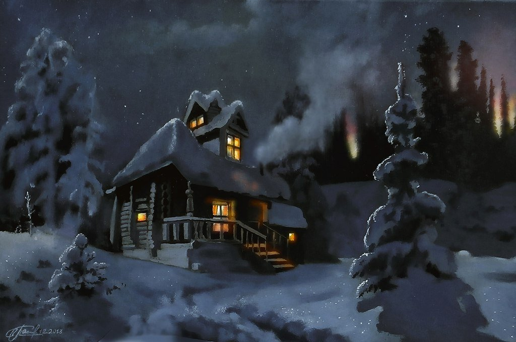 общем, автомобиль одинокая избушка в снегу анимация открытки комплекс включает