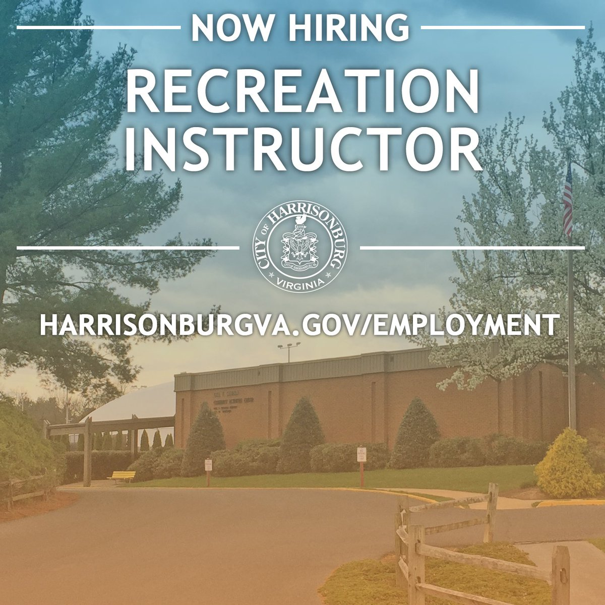 Harrisonburg Va On Twitter The City Is Hiring A Part Time