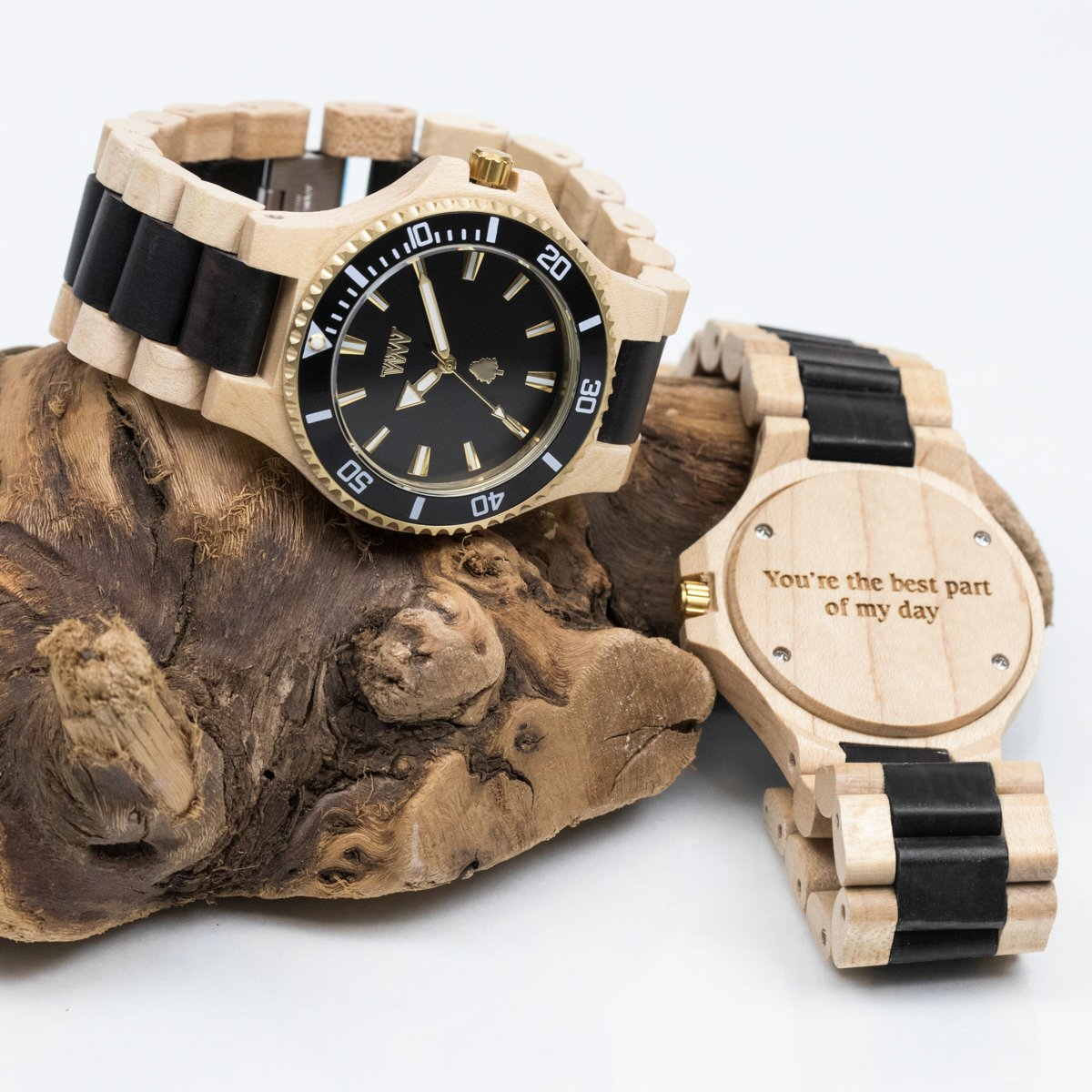 wristwatch watches wood wooden faced id true