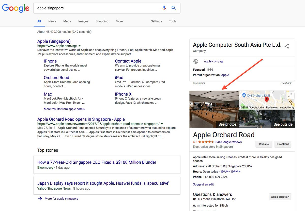 """test Twitter Media - If you Google search """"Apple Singapore"""", do you know who took this picture? Just click on the image to see! :D https://t.co/kk9Xv84EMn"""