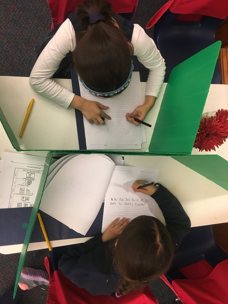 Aerial views of writing workshop #firstgrade #writingchat