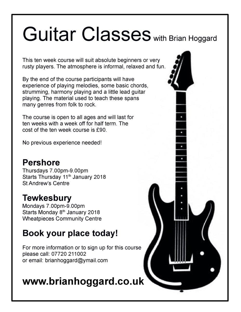 Brian Hoggard On Twitter My Next 10 Week Guitar Classes