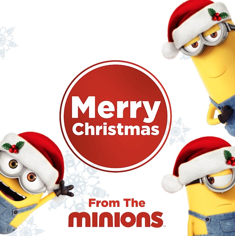 "#Minions on Twitter: ""#MerryChristmas from the #Minions.… """