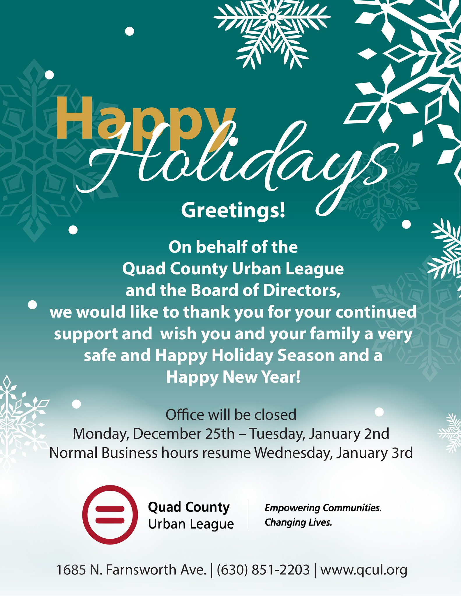 Qc Urban League On Twitter Qcul Wishes You And Your Family A Very
