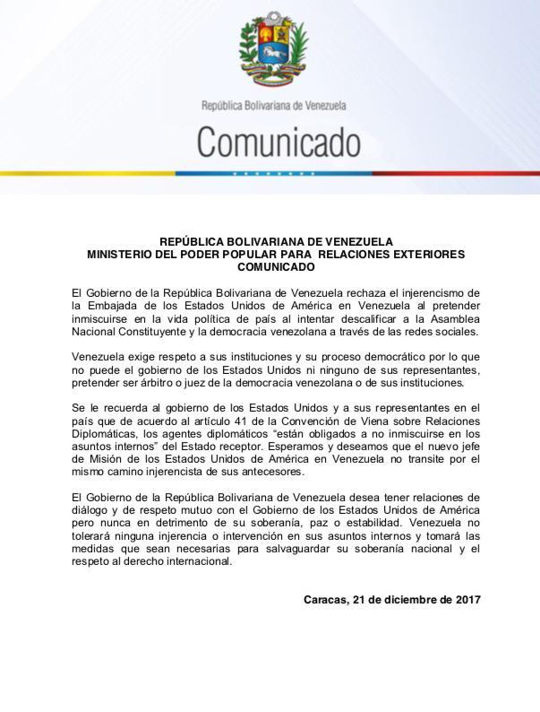 Agresión estadounidense a Venezuela - Página 8 DRm2wxDVAAAO79v