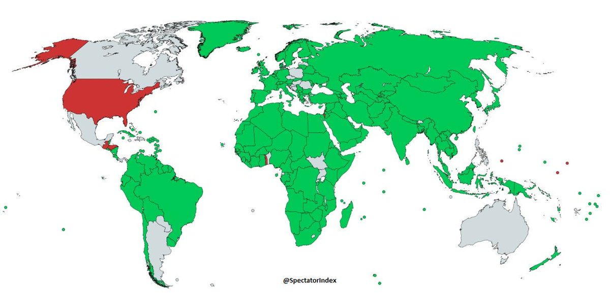GRAPHIC: UN Jerusalem Resolution voting  Green: For Red: Against Grey: Abstain