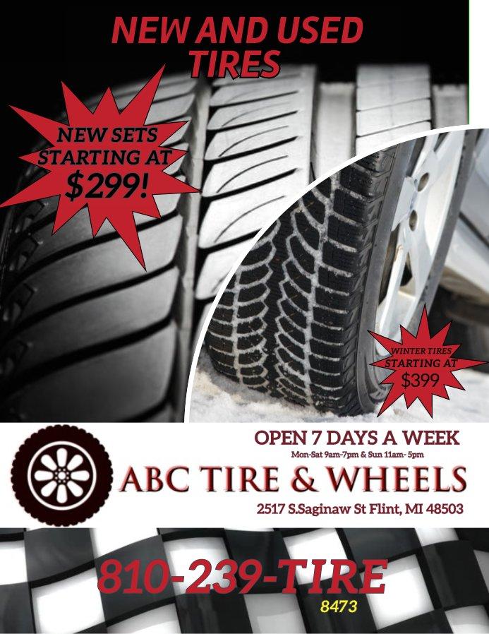 Used Tires Flint Mi >> Abc Tire Wheels Abc Tire Twitter