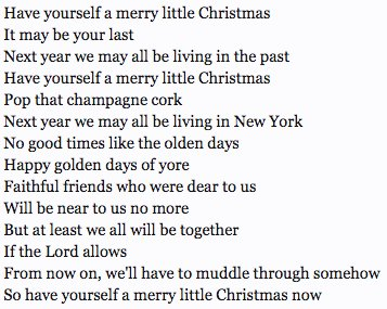 Have Yourself A Merry Little Christmas Lyrics.Louis Peitzman On Twitter Please Sign My Petition To Bring Back