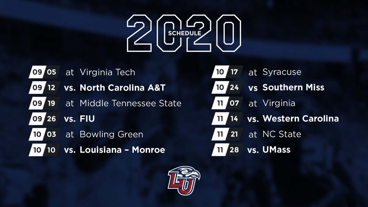 Tennessee Football Schedule 2020.Liberty Football On Twitter 2020 2021 Football Schedules