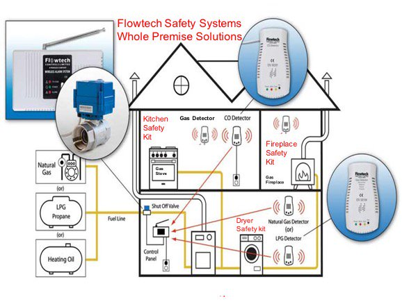 ASK @BlueMountainVA to install your @flowtechsafety #gassafety #COsafety #homesafety kit leak detector with automatic shutoff valve
