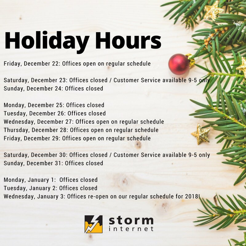 Please note our holiday hours! https://t...