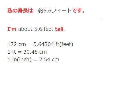 センチ 何 1 フィート