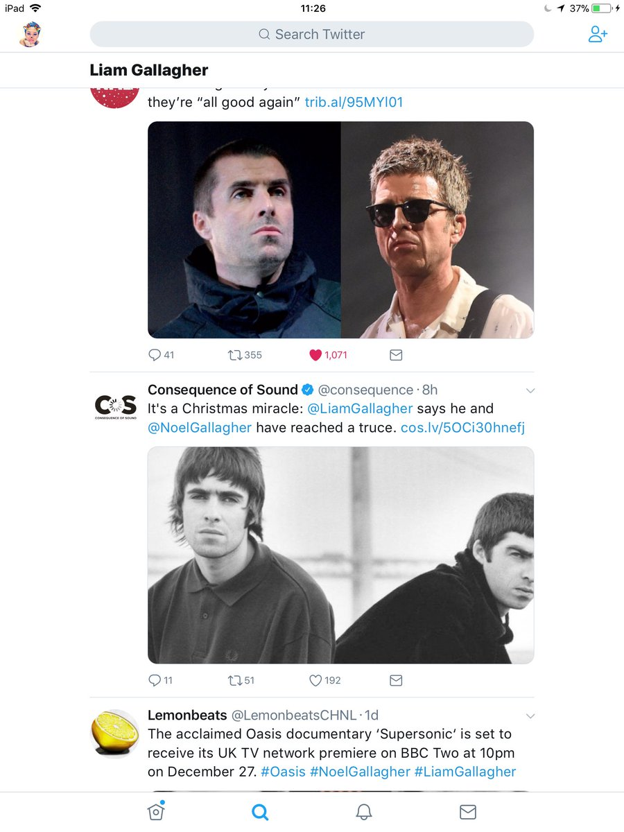 Consequence of Sound on Twitter: \