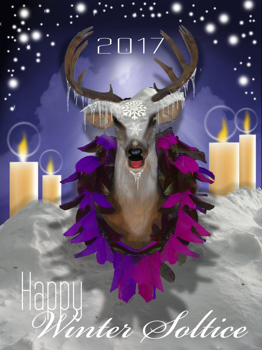 Its that time! Happy Winter Solstice from Buzzco! #Holiday #Deer #WinterSolstice #Buzzz
