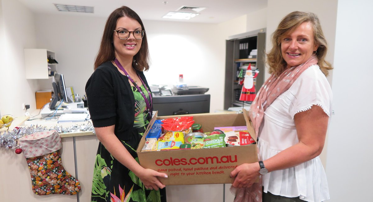 Image result for coles food donation photos