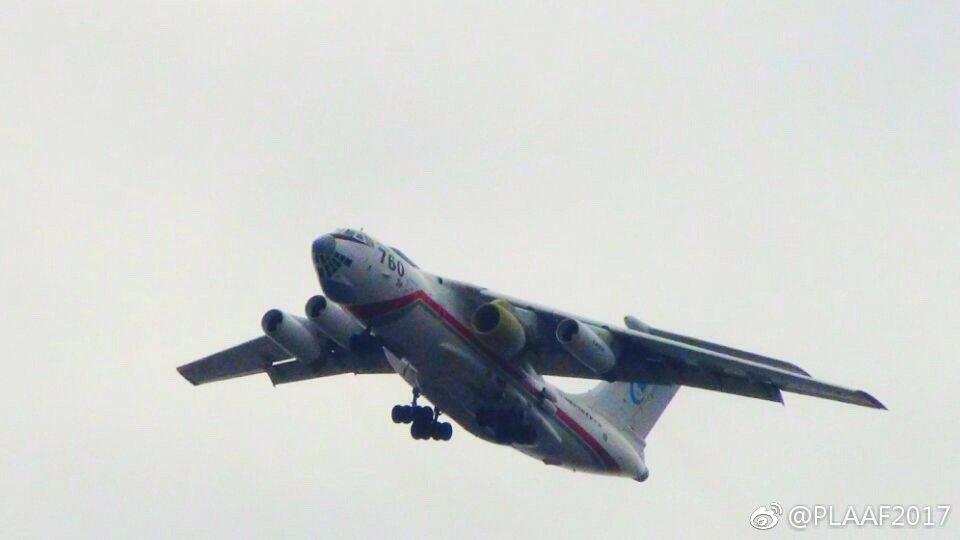 """OedoSoldier Twitterren: """"WS-20エンジンを搭載したIL-76LL空中 ..."""