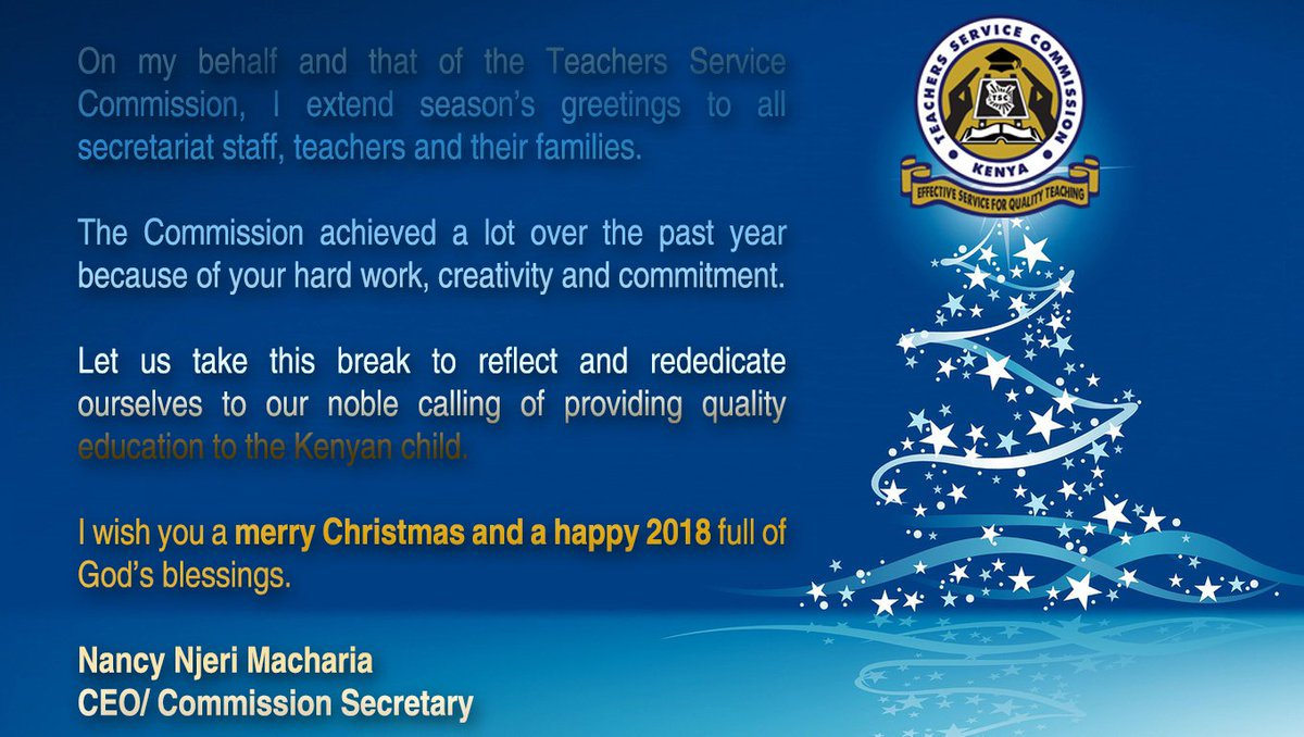 Tsc On Twitter Christmas Card From The Ceo Teachers Service