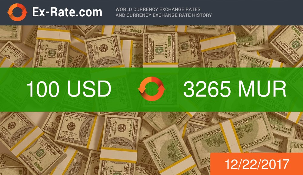 Ex Rate On Twitter Usd To Mur Exchange Rate Exrate 32 65 Https