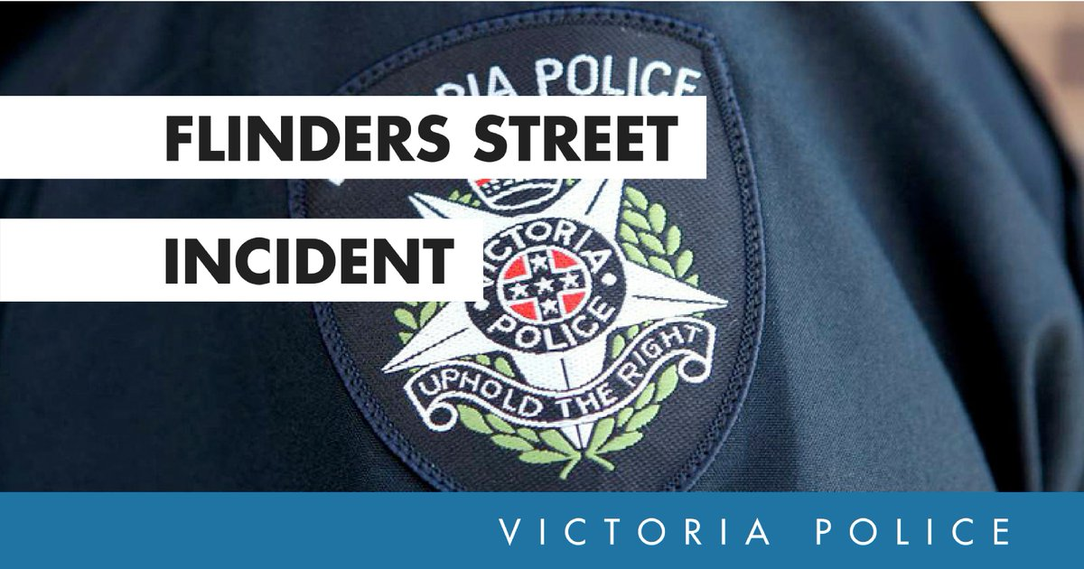 Victoria Police would like to re-iterate that the 24-year-old arrested on Flinders Street yesterday was not involved or connected with the initial incident. Can you please refrain from writing defamatory comments.