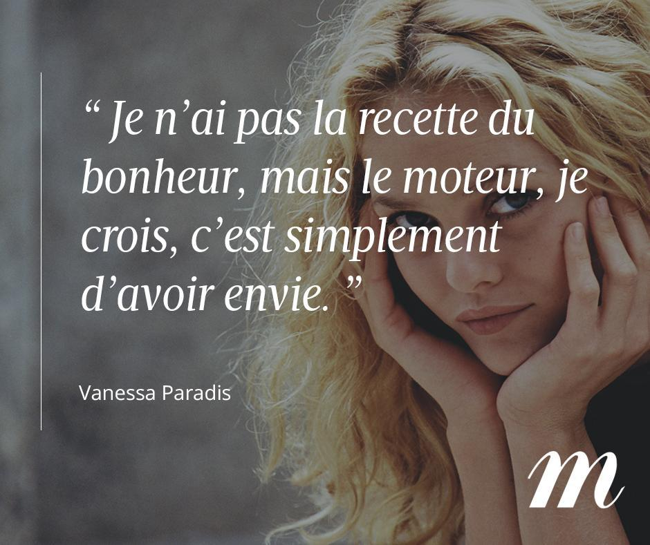 Joyeux anniversaire #VanessaParadis, et bonne journée à toutes et à tous ! #Citation #People