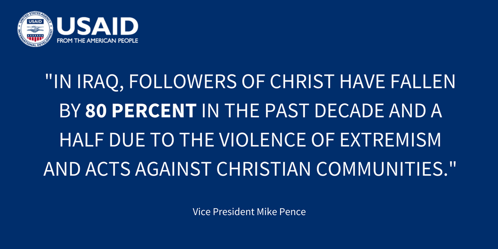 During this Christmas season, we stand with @VP to assure Christians and others persecuted for their faith in the Middle East that they are not forgotten.