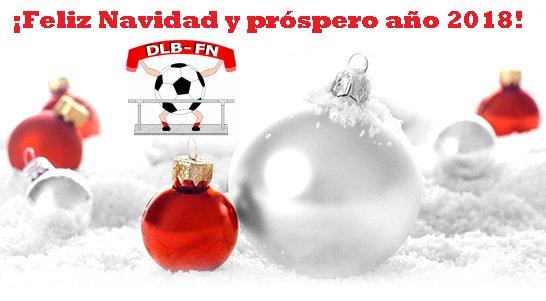 DESDE LA BANDA - FÚTBOL NAVARRO (DLB-FN) os desea una feliz navidad y próspero año nuevo 2018 a todo el fútbol navarro.