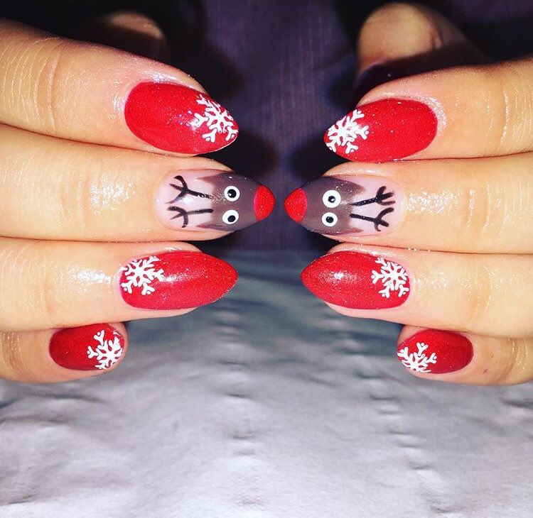 Gellux on topsy we just had to share these festive rudolf nail designs by ellenailsandbeauty hand painted with gellux red devil httppicitterf5xjiymzii prinsesfo Choice Image