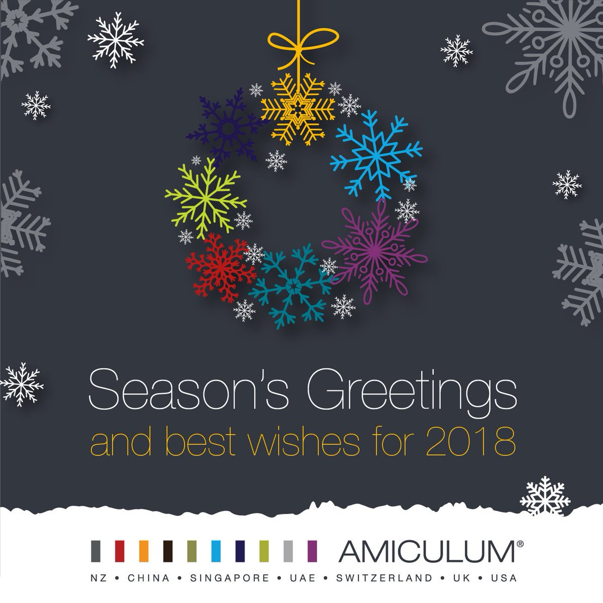 Amiculum On Twitter Seasons Greetings And Best Wishes For 2018 To
