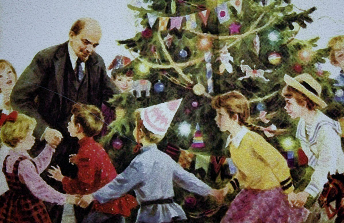 Ленин и елка открытки, днем рождения сестре