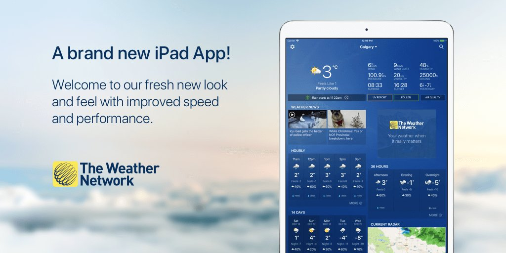 Canada's #1 weather app has a whole new look for ipad just