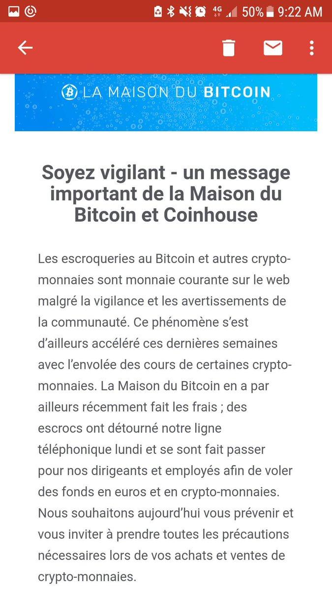 Damien Bancal On Twitter La Maison Du Bitcoin A Vecu Lundi Un