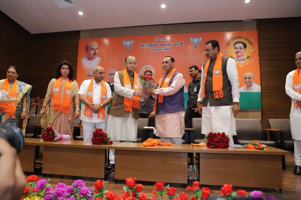 Congratulations On Being Re Elected As Cm Vijayrupanibjp Ji As Dy Cm Nitinbhai_patel Ji May You Have Another Sterling Inning Take Gujarat To Newer