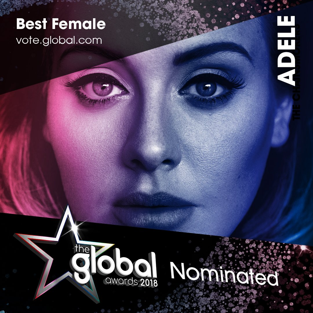 1. @Adele ✨ #TheGlobalAwards Vote now: https://t.co/sskYB41ct9