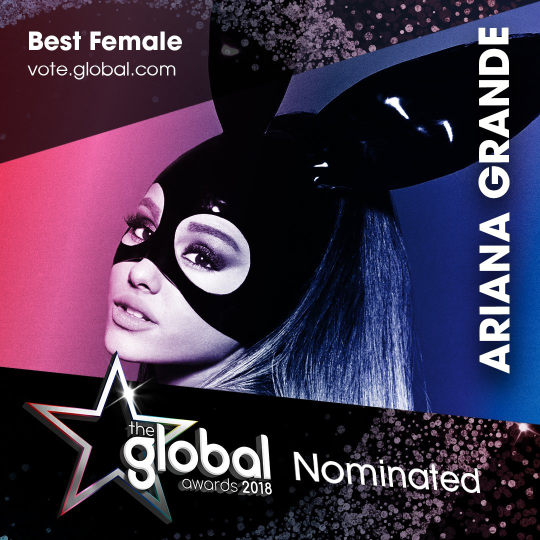 3. @ArianaGrande 😍 #TheGlobalAwards Vote now: https://t.co/sskYB41ct9