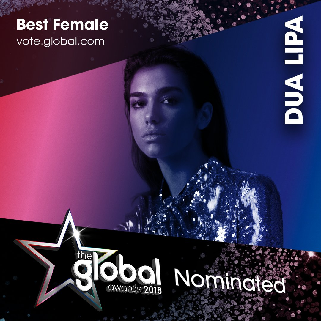6. @DuaLipa 💋 #TheGlobalAwards Vote now: https://t.co/sskYB41ct9