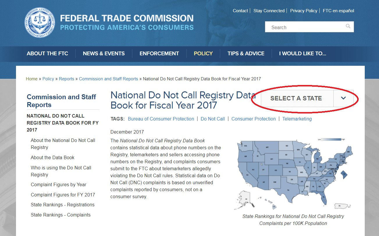 "ftc on twitter: ""check out our new do not call registry data book"