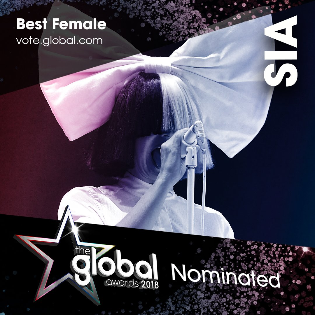 13. @Sia 💞 #TheGlobalAwards Vote now: https://t.co/sskYB41ct9