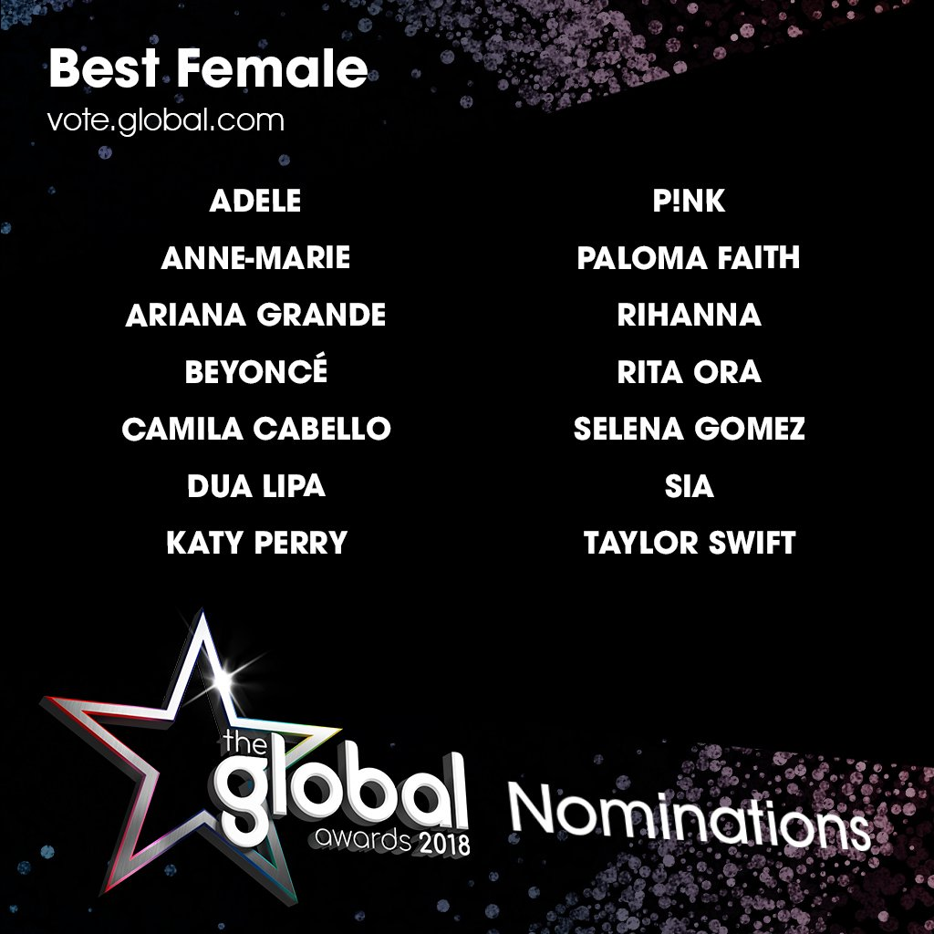 👑 Best Female at #TheGlobalAwards - a thread 👑
