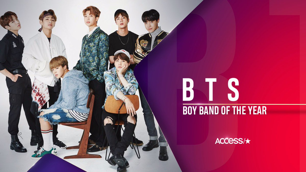 Congrats, #Army! You voted, and now @BTS_twt is officially our Boy Band of the Year! Here's to another year of the boys slaying the competition in 2018! https://t.co/HsT8CbIIE9 🎉