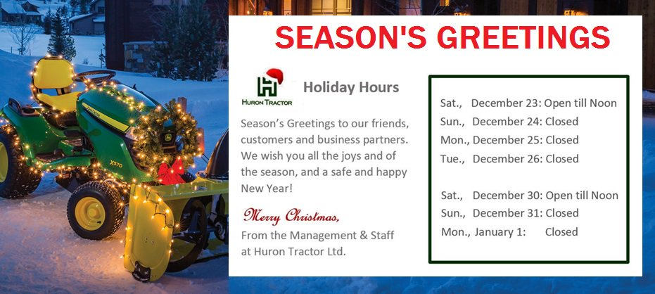 from everyone at huron tractor we wish you all the joys of the season and a safe happy new yearpictwittercomhyqrt117on