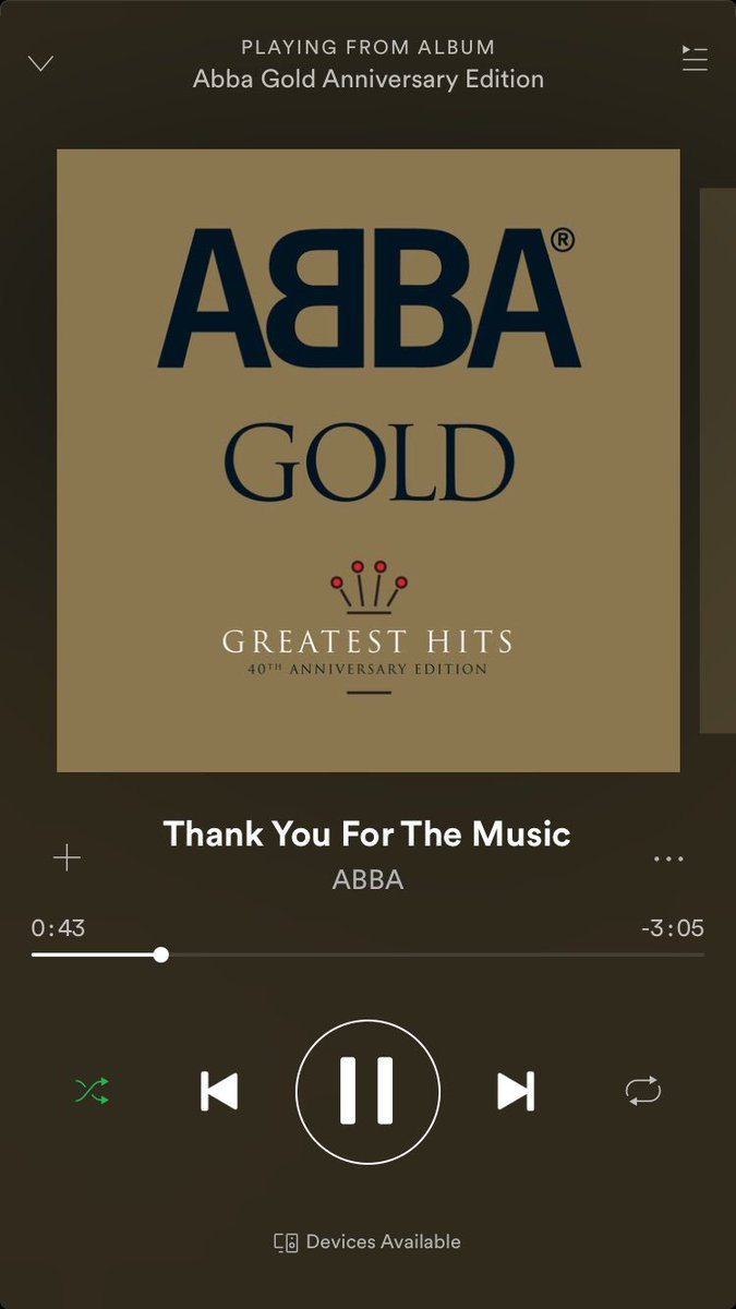 RT @ToffTalks: seriously though ABBA thank you for the music x https://t.co/5RhJqNQbEn